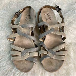 Naturalizer gray wedge sandals